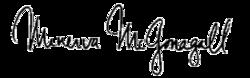 Minerva McGonagall Signature PNG